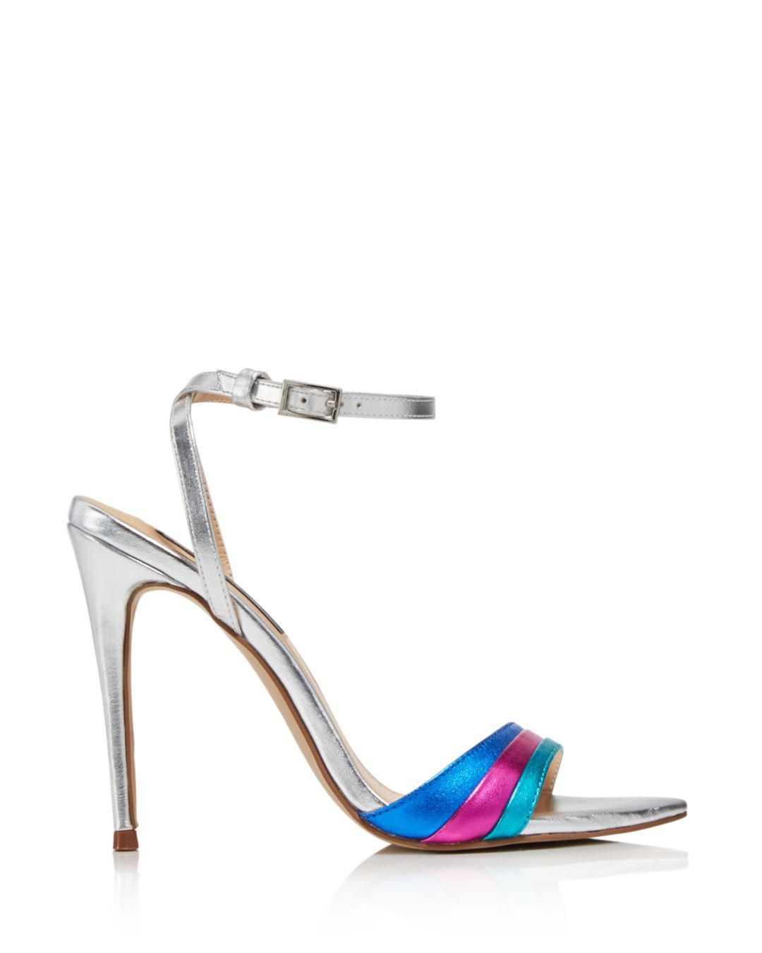 7ba70cd349d Lyst - Aqua Women s Kiki Rainbow High-heel Sandals in Blue