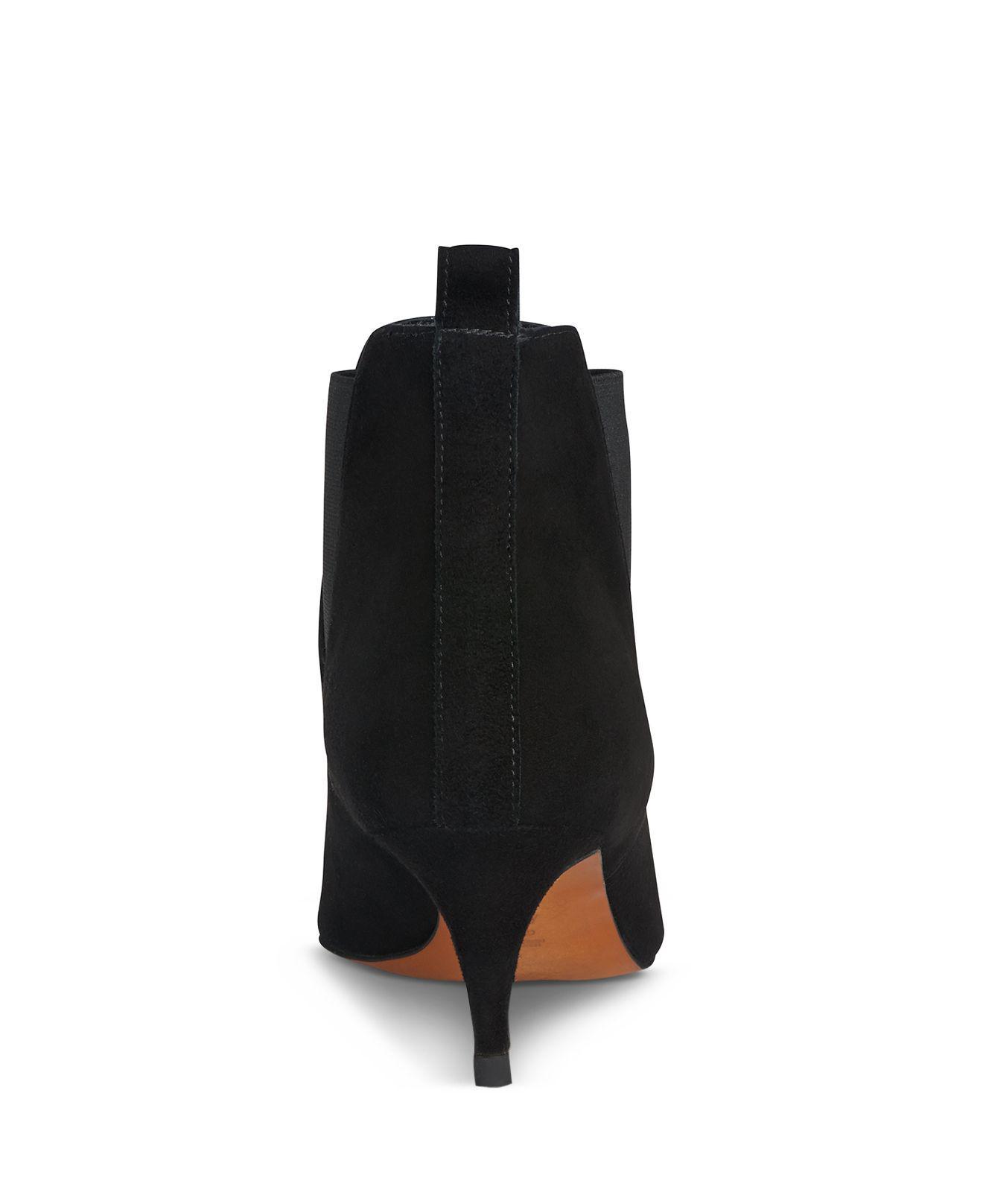 fdf1effe9918 Whistles Women s Orley Suede Kitten Heel Booties in Black - Lyst