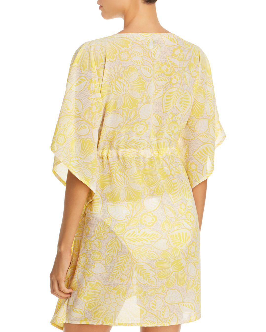 88c1b9a15d1f7 Lyst - Echo Floral Silky Butterfly Cover-up in Yellow