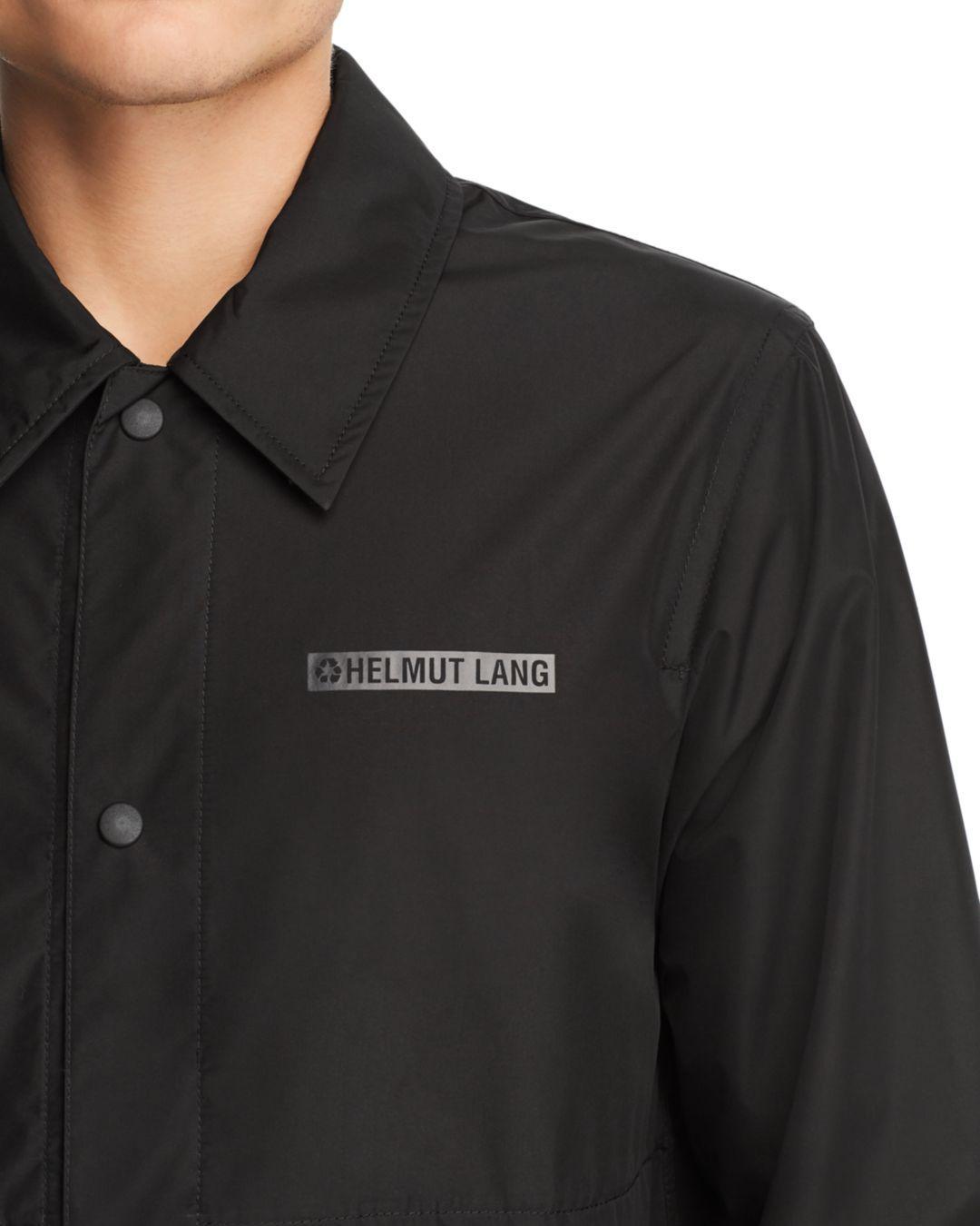 dea8a1fa2 Lyst - Helmut Lang Tonal Logo-print Stadium Jacket in Black for Men