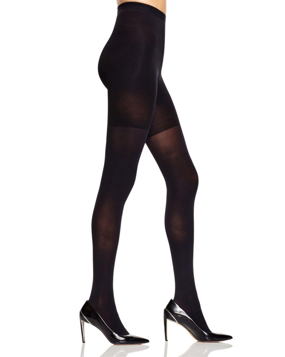 849c5a082c6 Spanx High-waisted Luxe Leg Tights in Black - Lyst