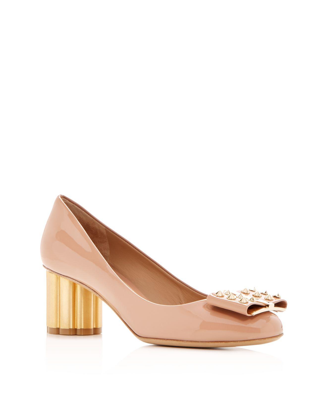 Salvatore Ferragamo Women's Capua 55 Patent Leather Floral Heel Pumps Y9oBb