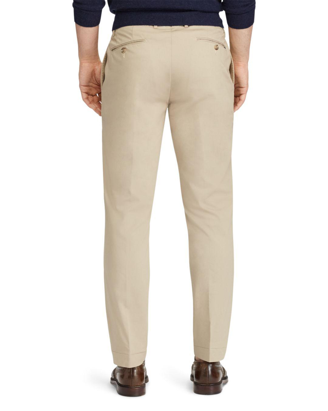 dca71de1a Lyst - Polo Ralph Lauren Performance Stretch Straight Fit Chinos in Natural  for Men