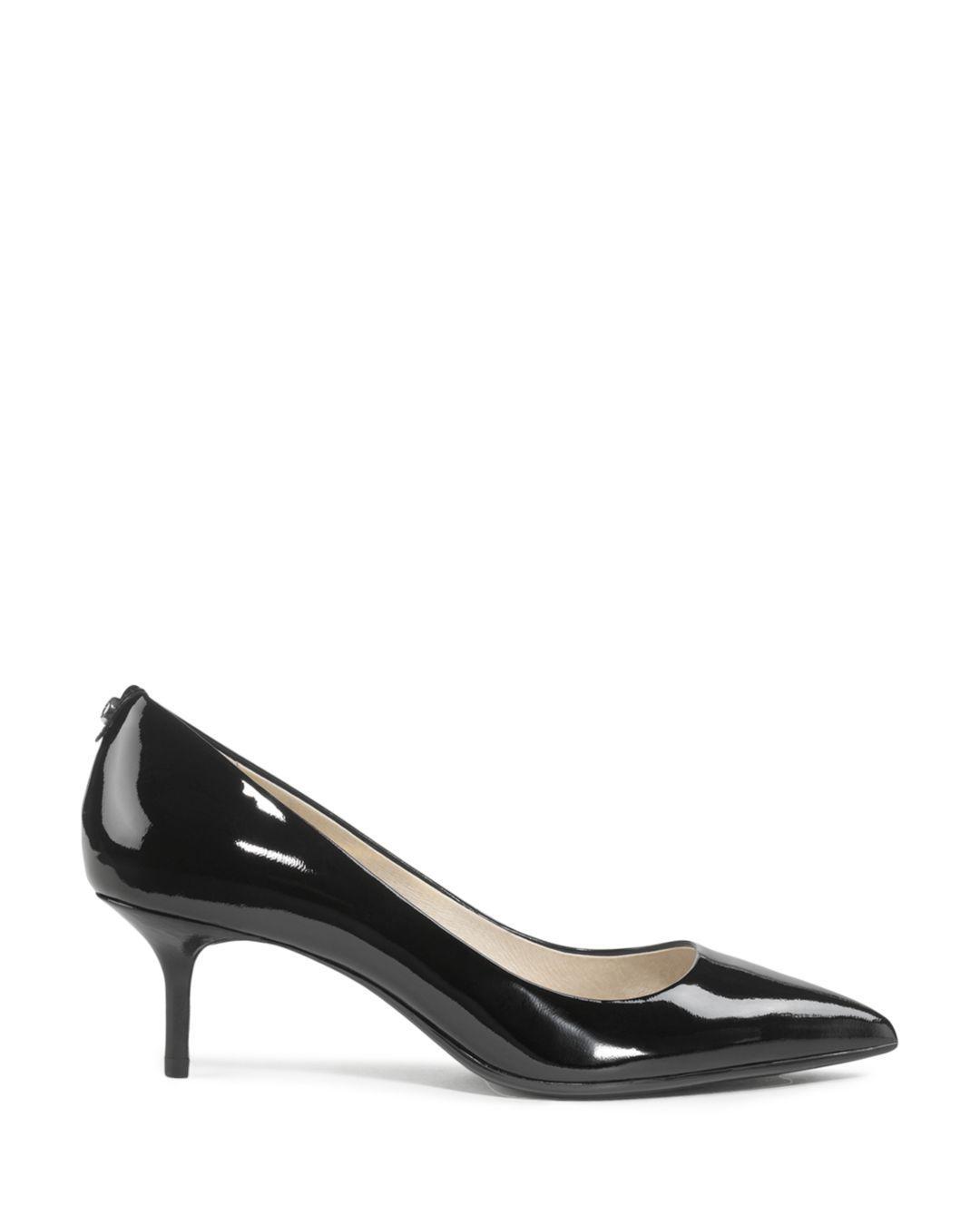 a3b409f04c7 Lyst - Michael Michael Kors Mk Flex Kitten Heel Pumps in Black