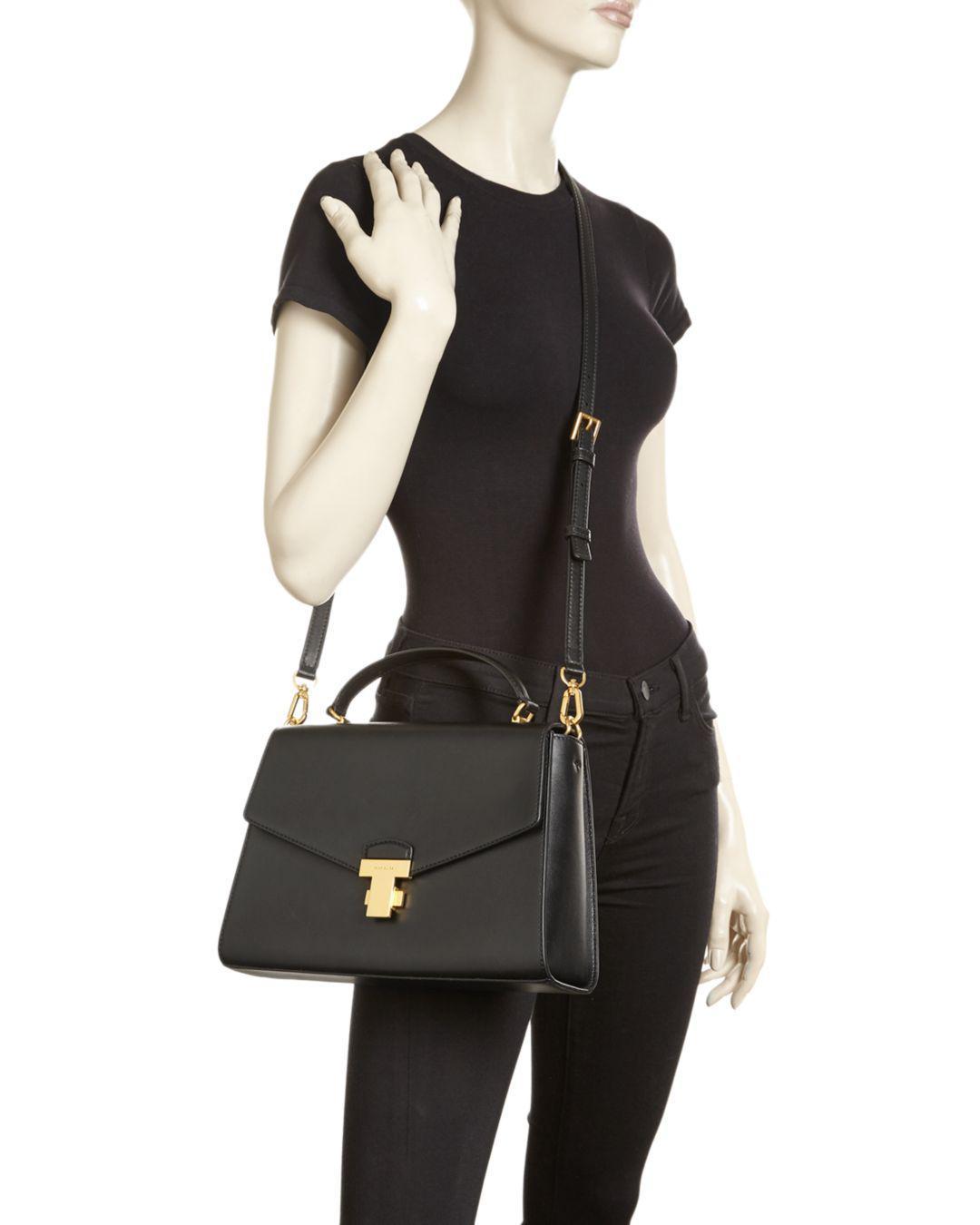 3674cb6cdb81 Lyst - Tory Burch Juliette Large Leather Satchel in Black