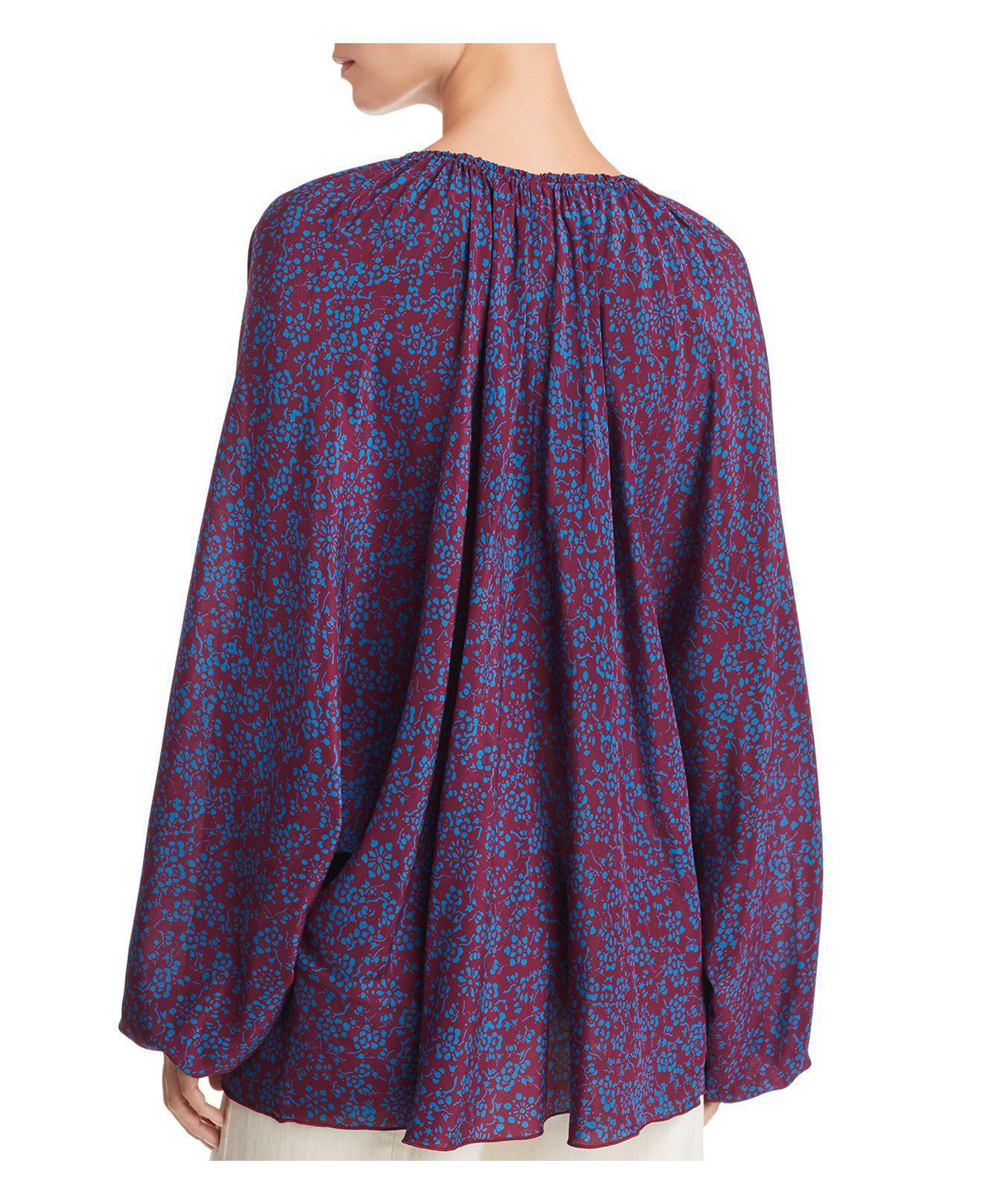 Discount Geniue Stockist Chance Printed Silk Blouse - Purple Elizabeth & James Amazon Online Free Shipping Sast Cheap Sale Explore Hot Sale Sale Online xiD6yw6dL