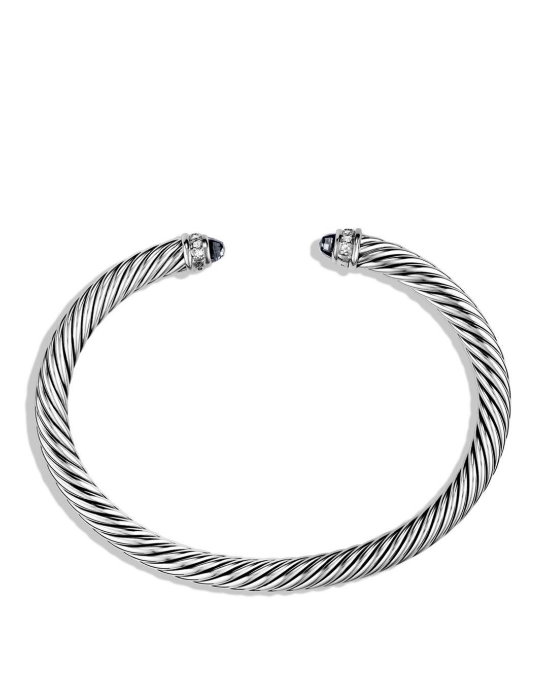 590af2986ef3 Lyst - David Yurman Cable Classics Bracelet With Black Onyx & Diamonds in  Black