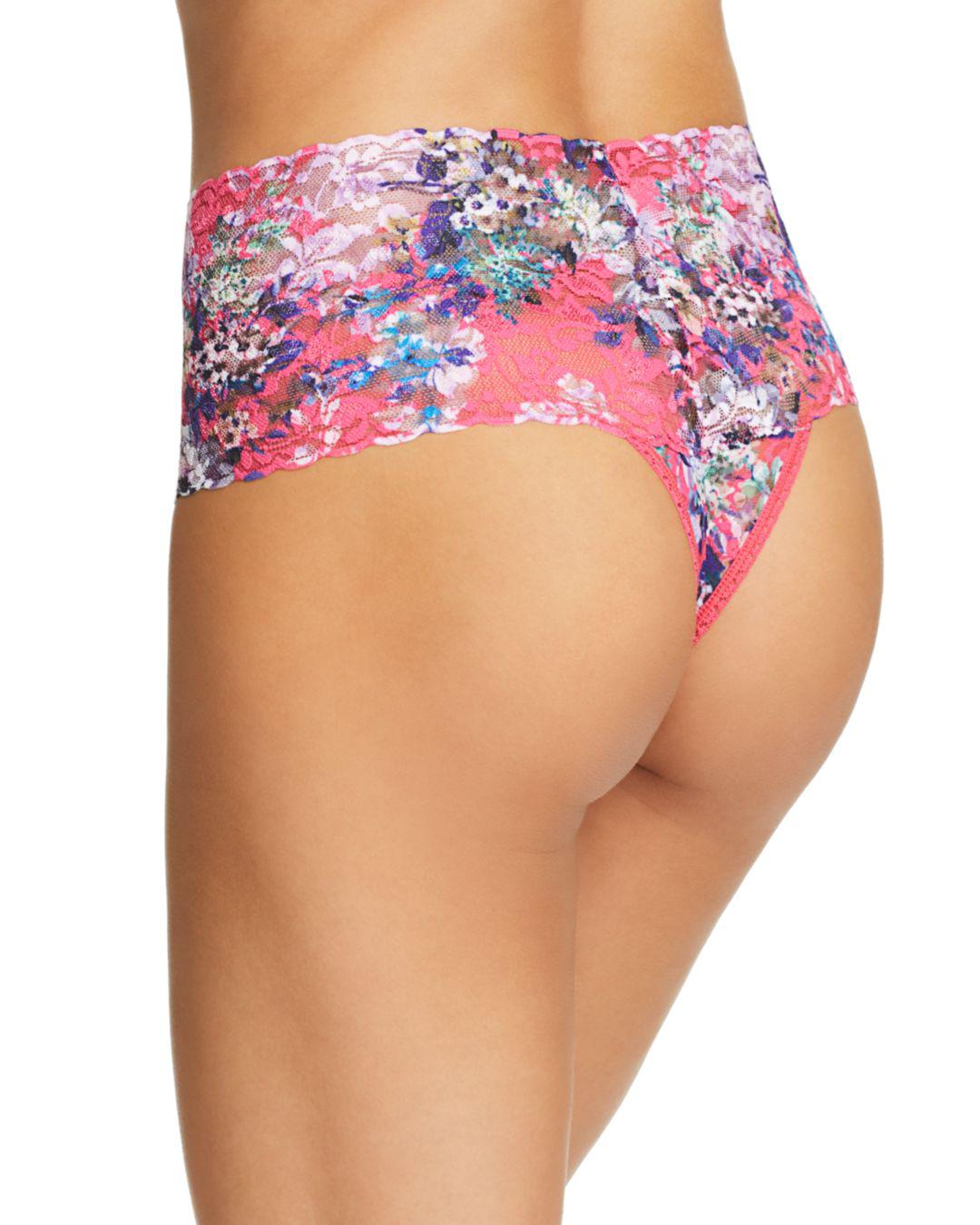 3608c379336 Lyst - Hanky Panky Pretty Little Things Retro Thong in Pink