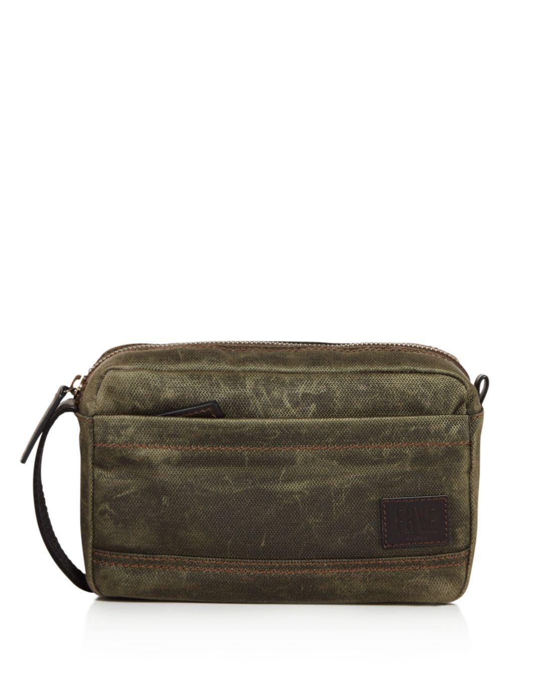 ba9210f442 Frye Carter Slim Toiletry Bag in Green for Men - Lyst
