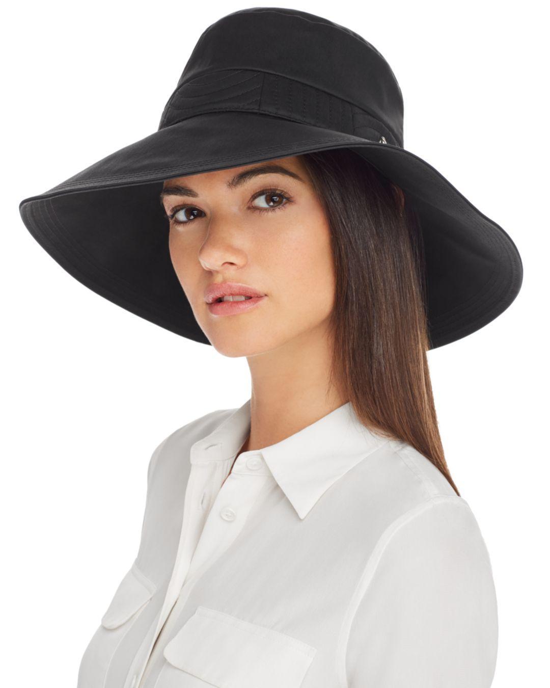 10e0f7d8b936e Lyst - Helen Kaminski Jenina Packable Hat in Black