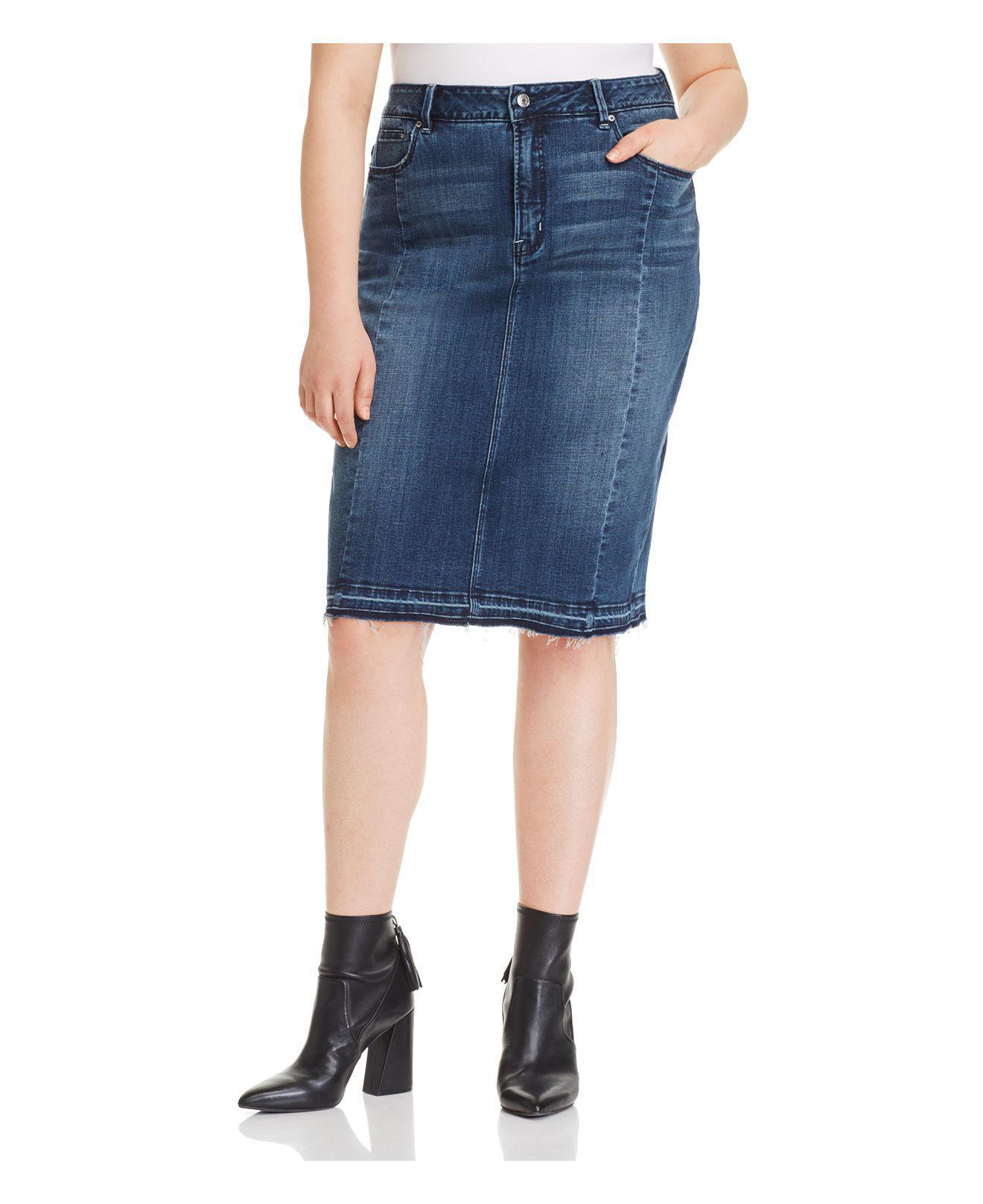 e4a8ff668f Lyst - REBEL WILSON X ANGELS Denim Pencil Skirt in Blue