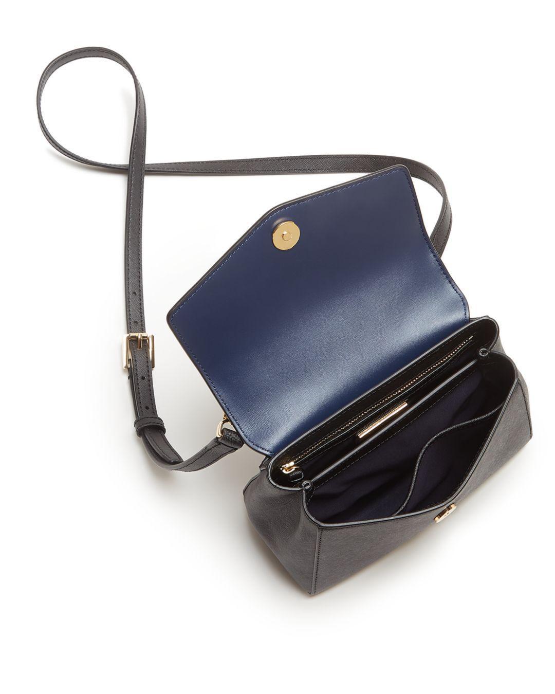 Lyst - Tory Burch Robinson Small Leather Crossbody in Black 0a3062a5b2375