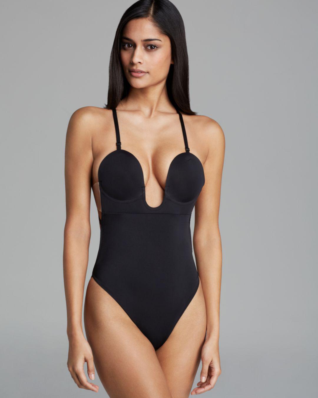 3d2103dad43 Fashion Forms - Black U Plunge Backless Strapless Bodysuit - Lyst. View  fullscreen