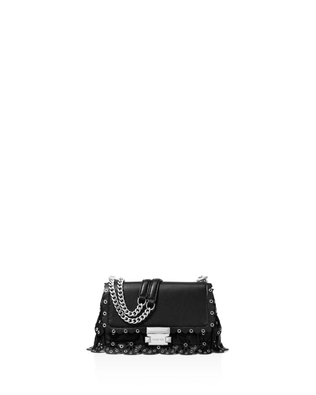 b95c029f05cba MICHAEL Michael Kors. Women s Black Michael Kors Sloan Small Leather Chain  Shoulder Bag