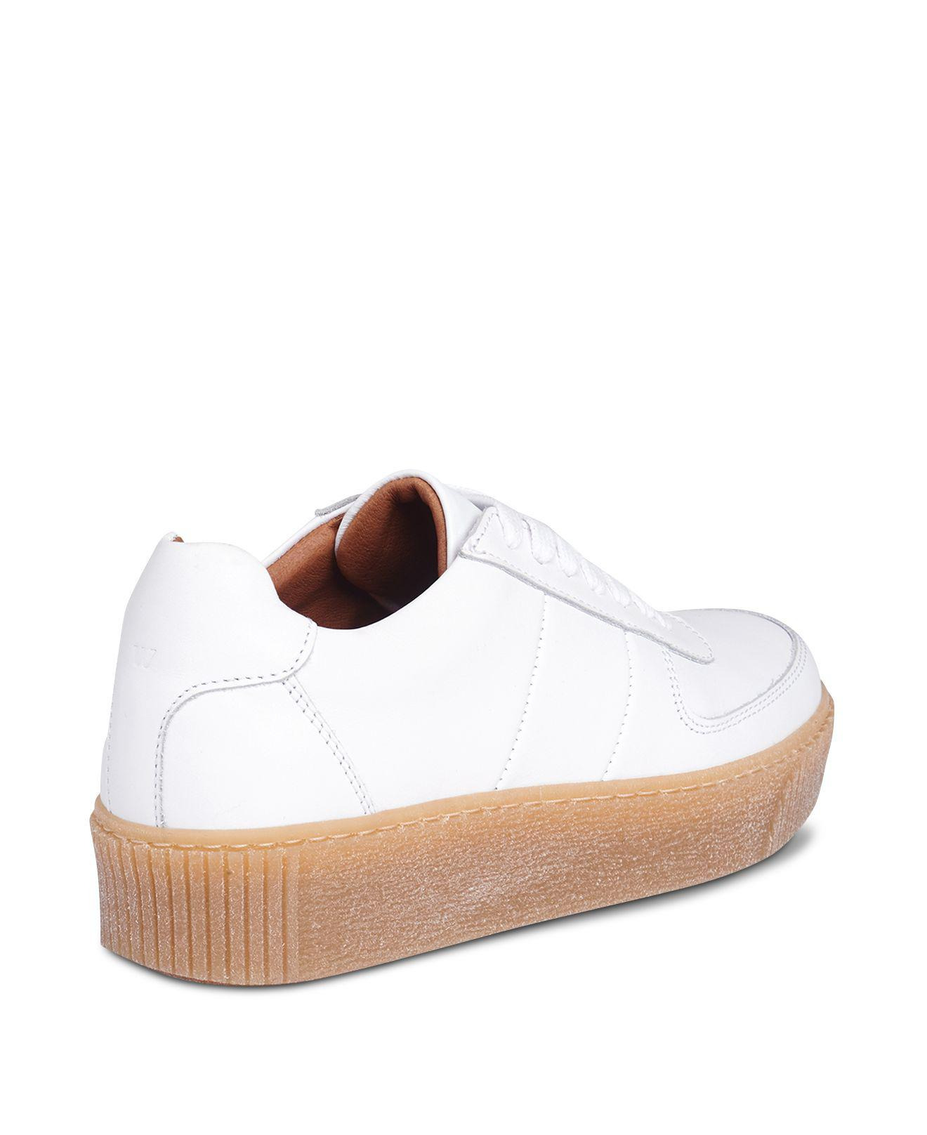 Whistles Women's Abbey Leather Lace Up Platform Sneakers wyeVDwh