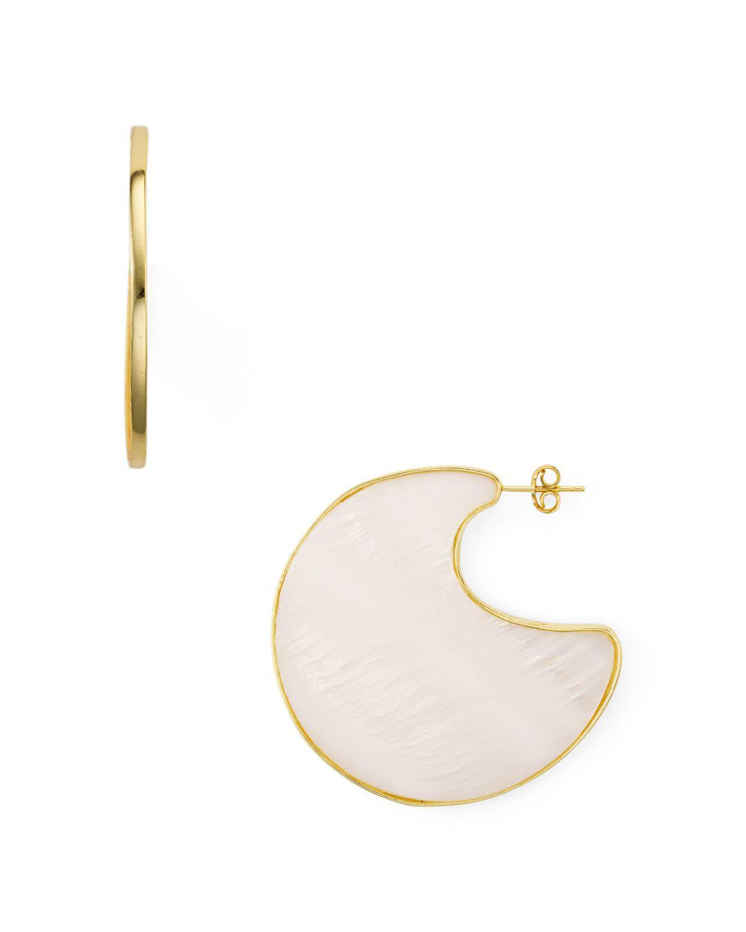 e813f7ca9 Argento Vivo. Women's Metallic Mother-of-pearl Sculptural Disc Drop Earrings  In 18k Gold-plated Sterling Silver