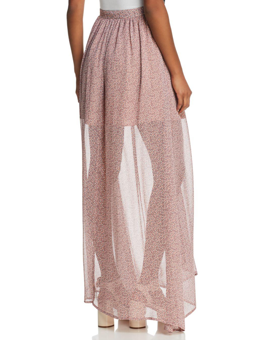 dd254db07275 French Connection Long Skirt in Pink - Lyst