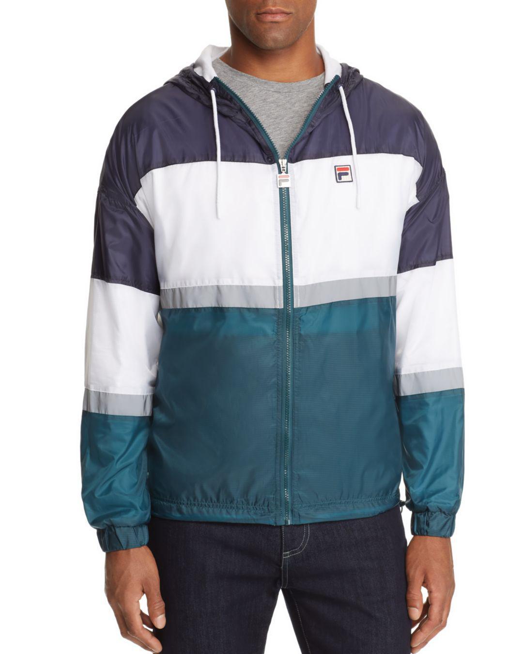 73b2744d3 Fila Cedric Color-block Windbreaker Jacket in Blue for Men - Lyst