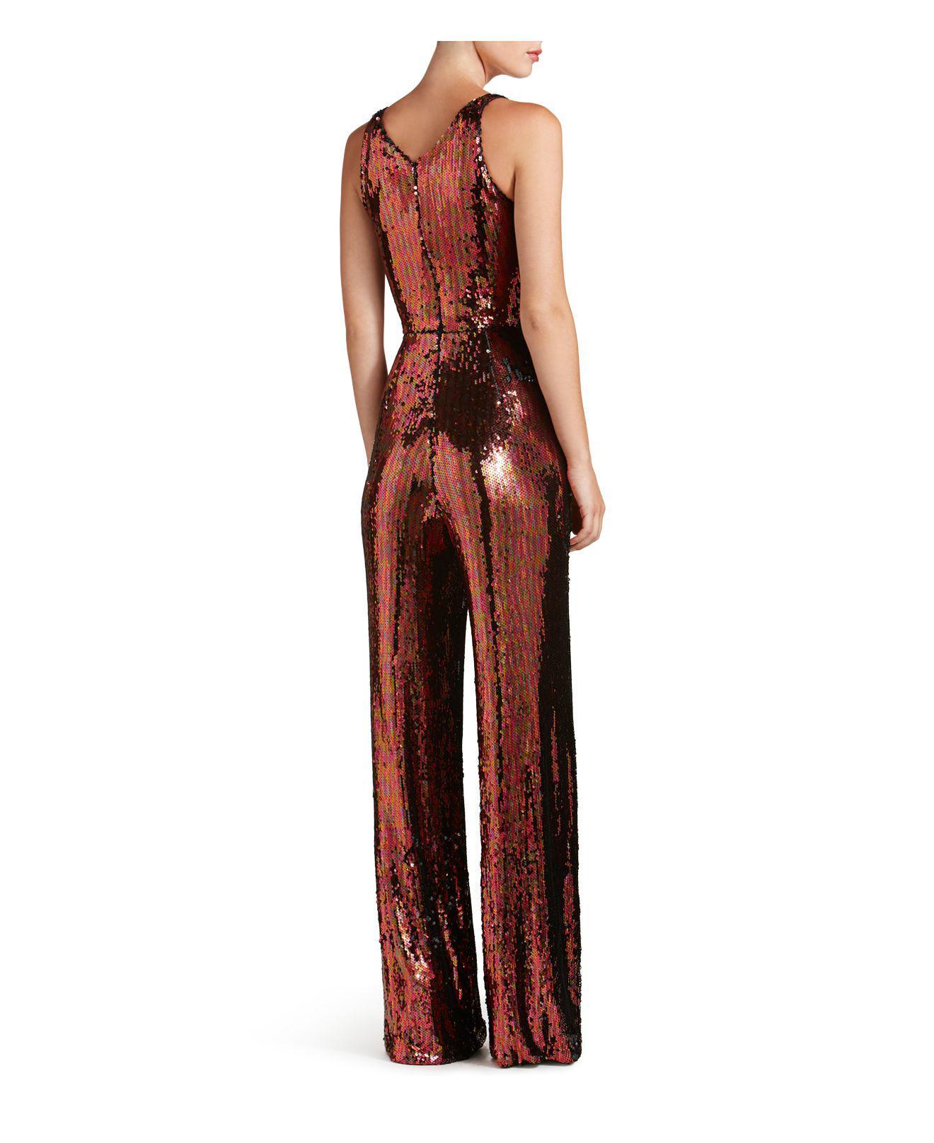 b5ac03c05794 Dress the Population Charlie Sequin Jumpsuit - Lyst