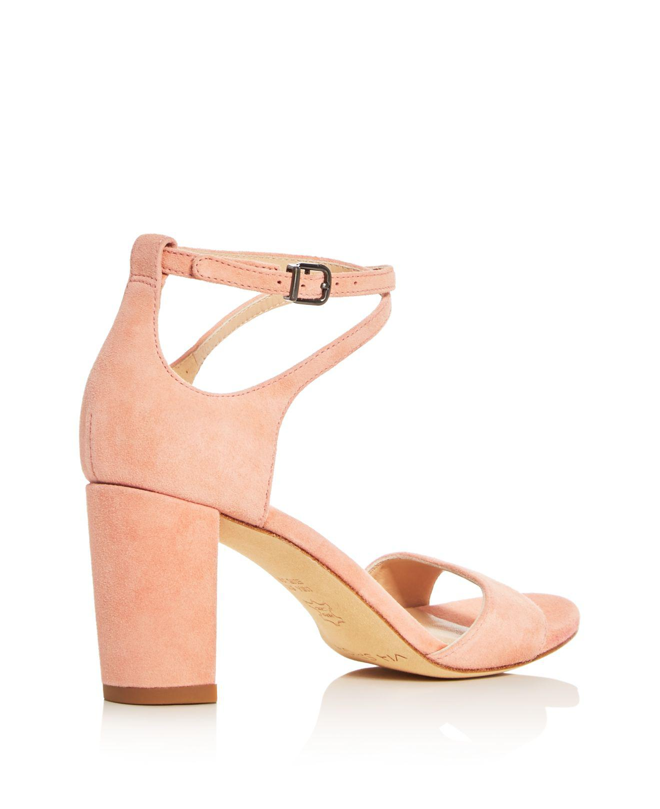 60123f1ebeb Lyst - Via Spiga Wendi Crisscross Ankle Strap High Heel Sandals