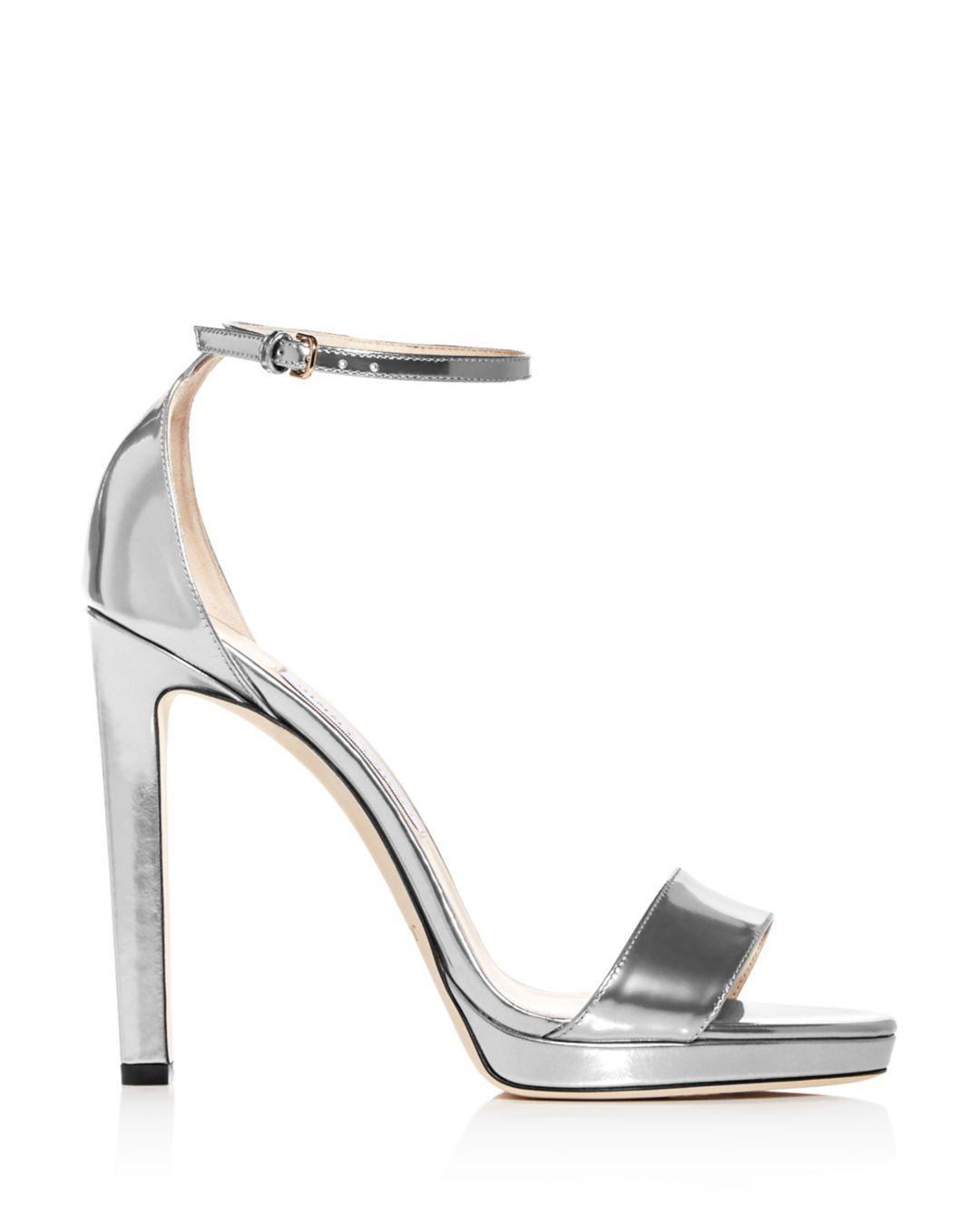 0f20990083a Lyst - Jimmy Choo Women s Misty 120 Ankle Strap High-heel Sandals in  Metallic