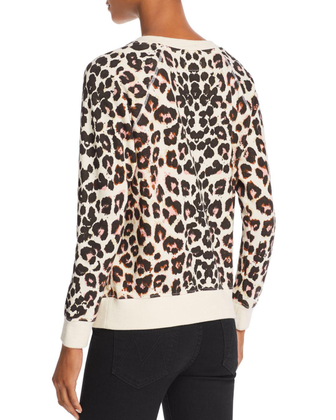 97b277ef62f4 Mother The Square Leopard Print Sweatshirt - Lyst
