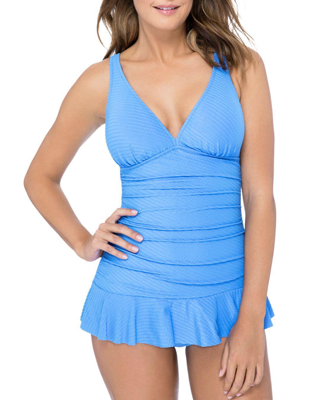 694083f0ae4a1 Lyst - Gottex Ribbons D-cup Swim Dress in Blue