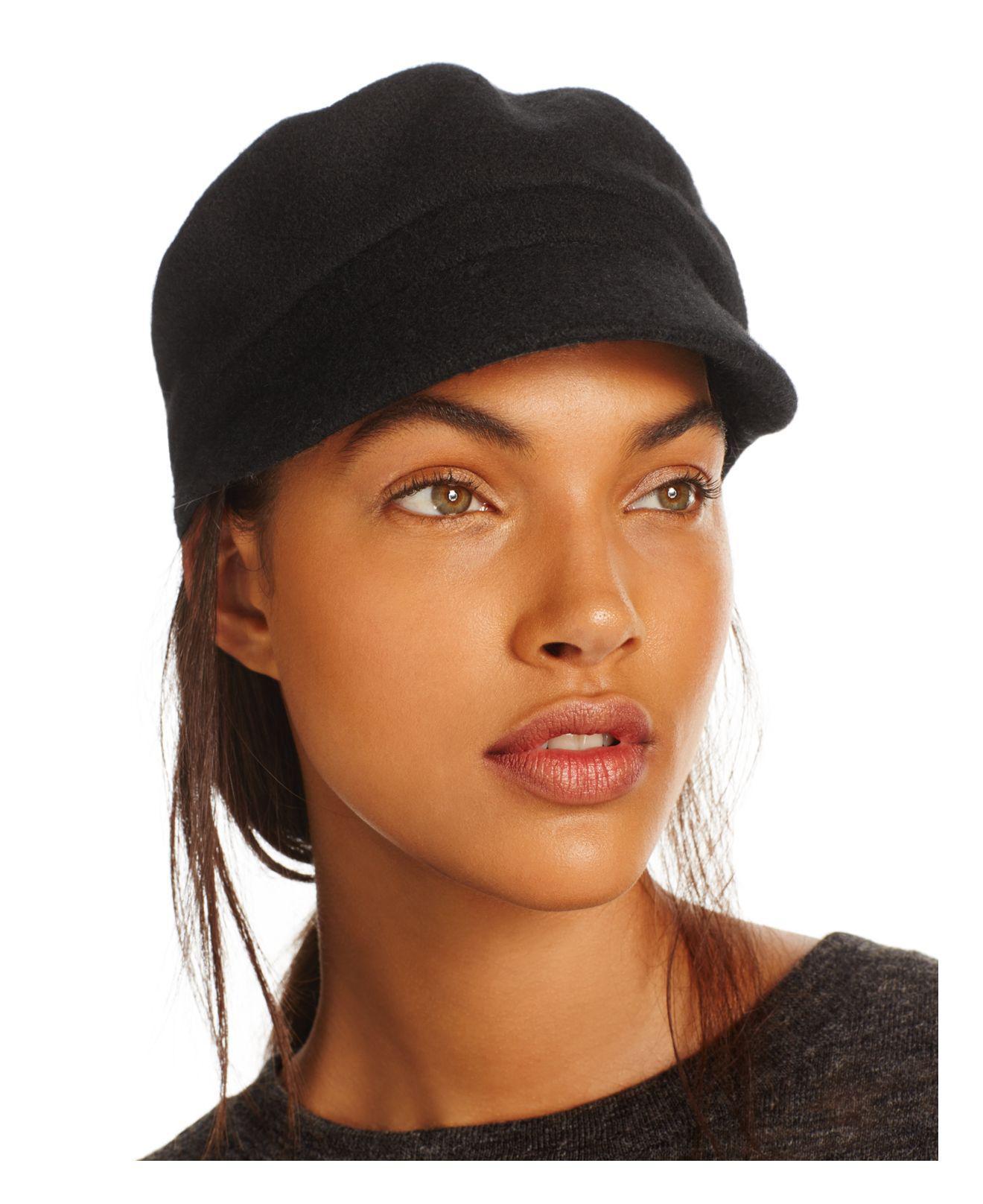 3c02d049357 Lyst - August Hat Company August Accessories Melton Mod Cap in Black