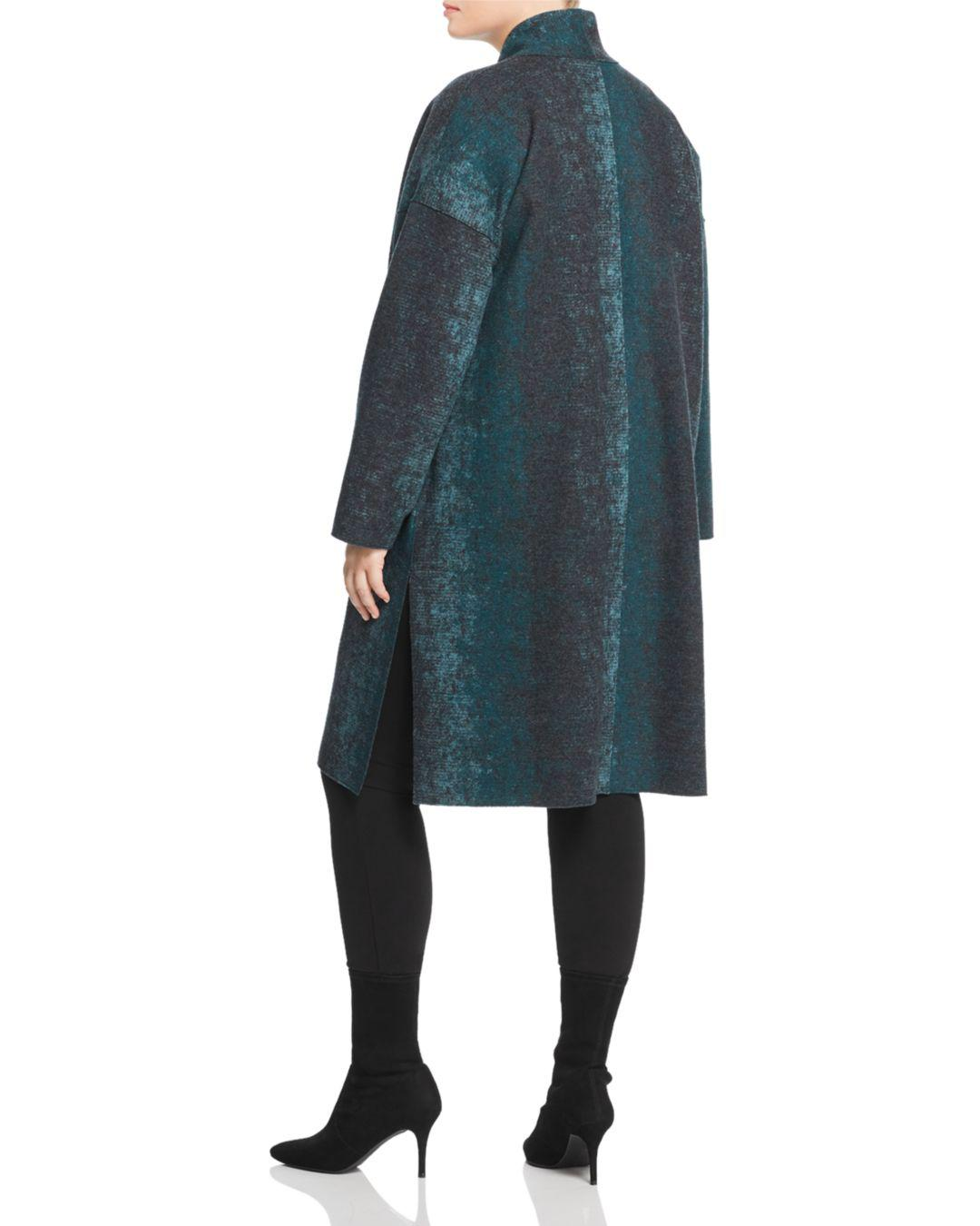 521c1af0d1947 Lyst - Eileen Fisher Open Duster Coat in Blue