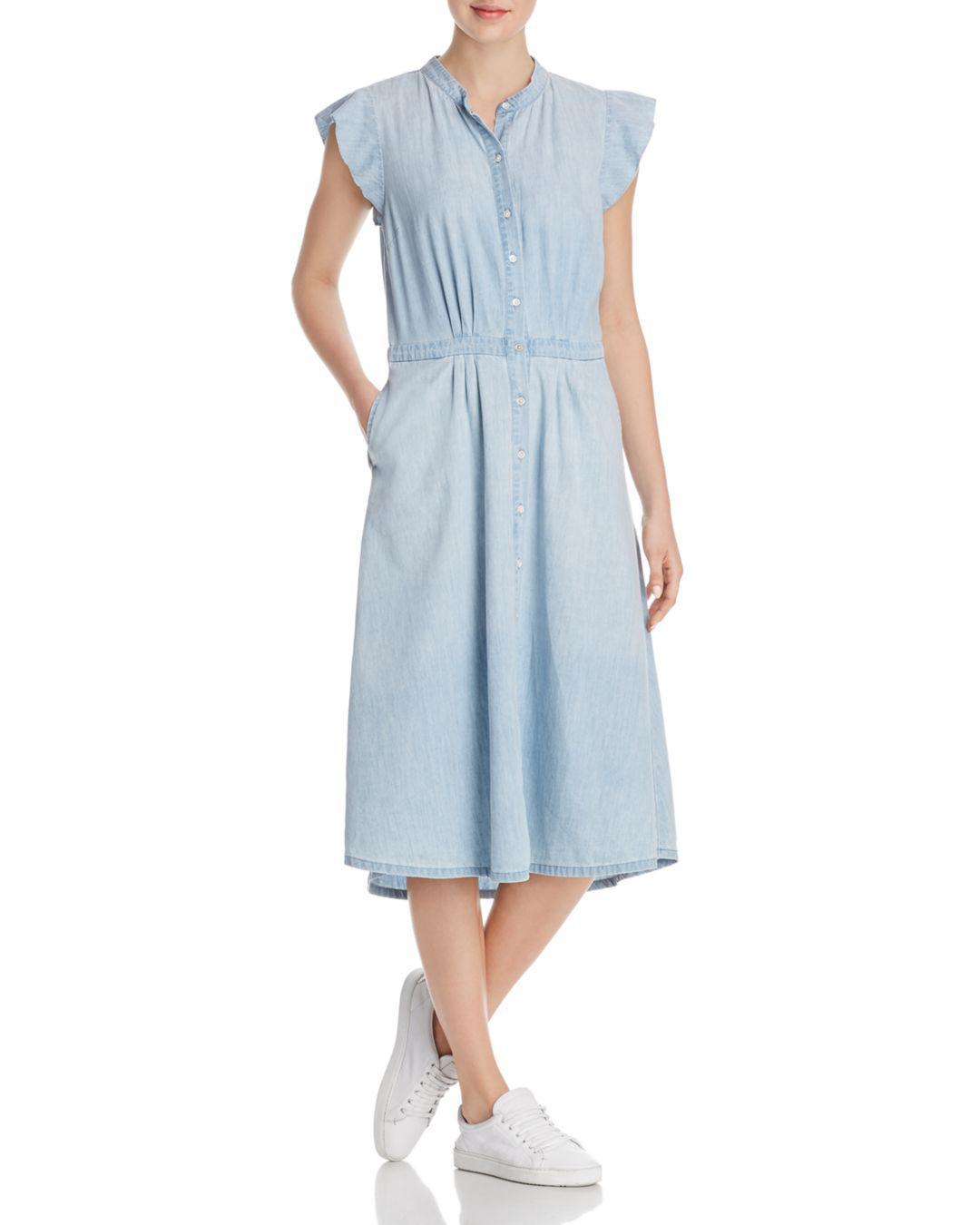 ffb6ac2080 Lyst - Joie Awel Chambray Shirt Dress in Blue