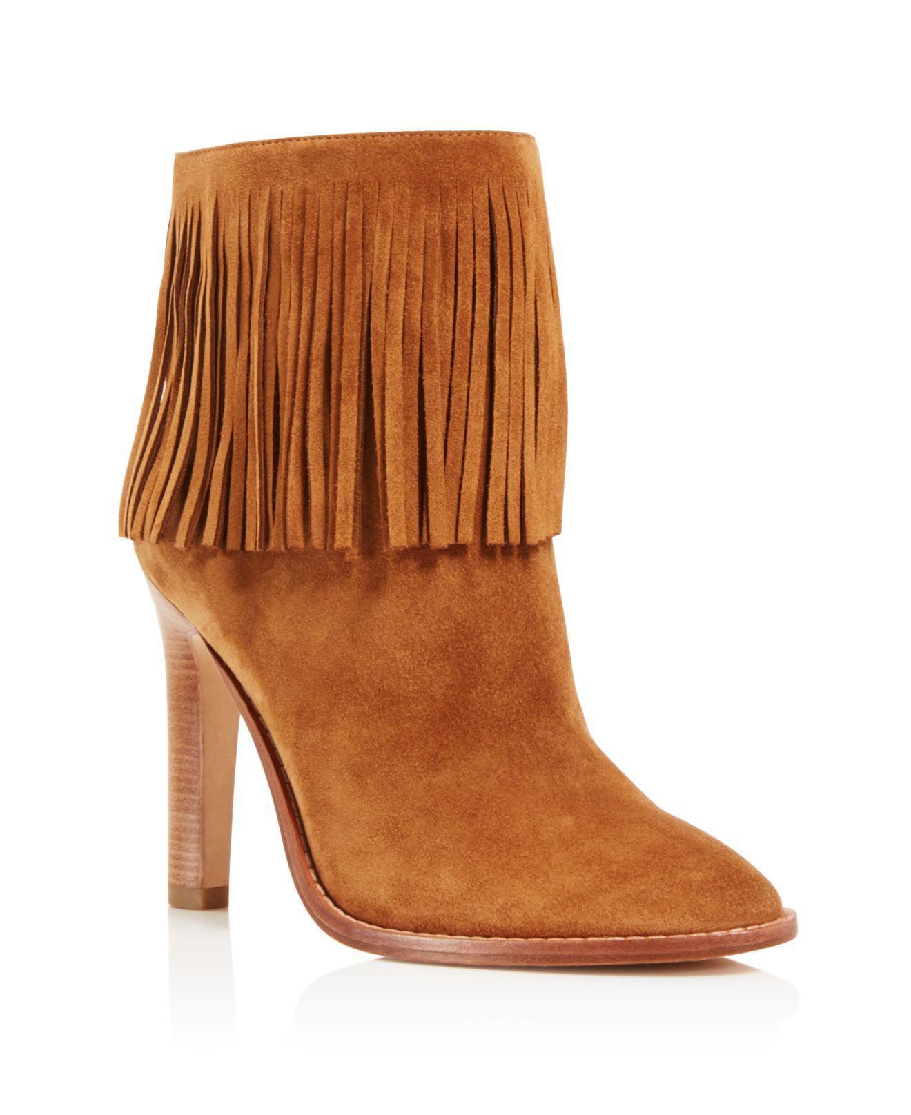Joie Cambrie High Heel Booties - 100% Exclusive Chestnut Women
