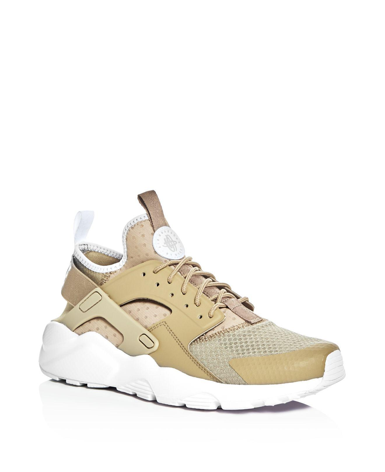 08e95aa0b69 Lyst - Nike Men s Air Huarache Run Ultra Lace Up Sneakers in Natural ...
