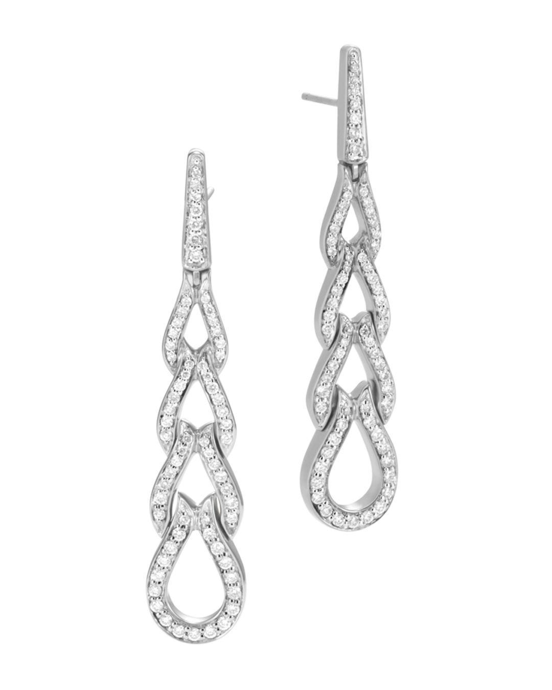 6ab96b9c0 John Hardy. Women's Metallic Classic Chain Sterling Silver Diamond Pavé  Drop Earrings