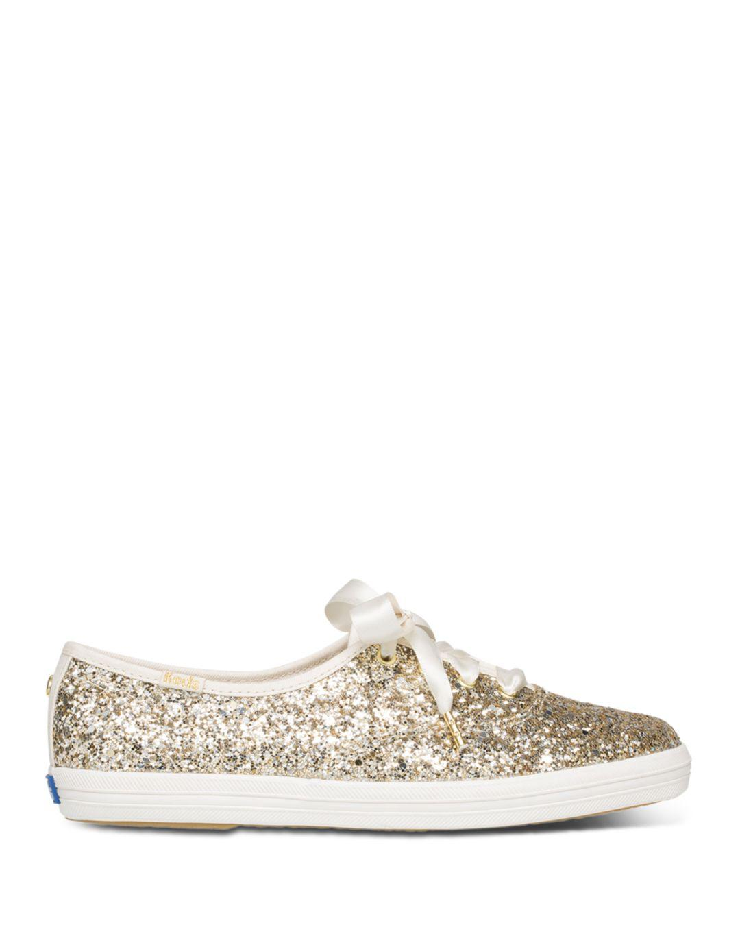 aca35bf234 Lyst - Keds X Kate Spade New York Women s Glitter Lace Up Sneakers - Save  31%