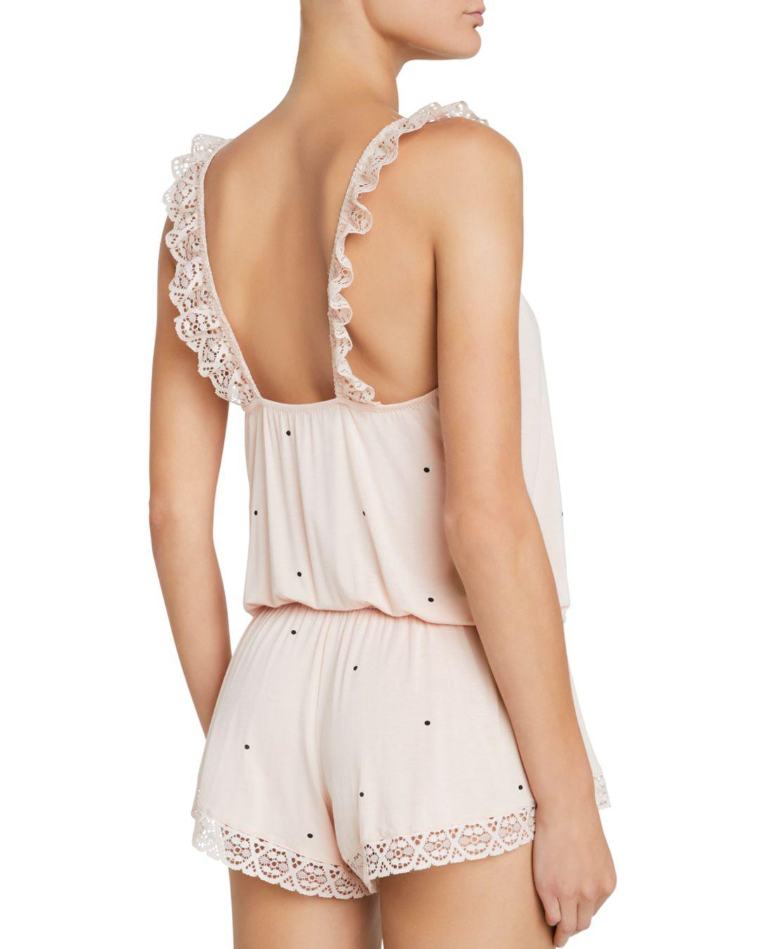 edb17b581b8e Lyst - Eberjey Dots Enchanted Romper in Pink