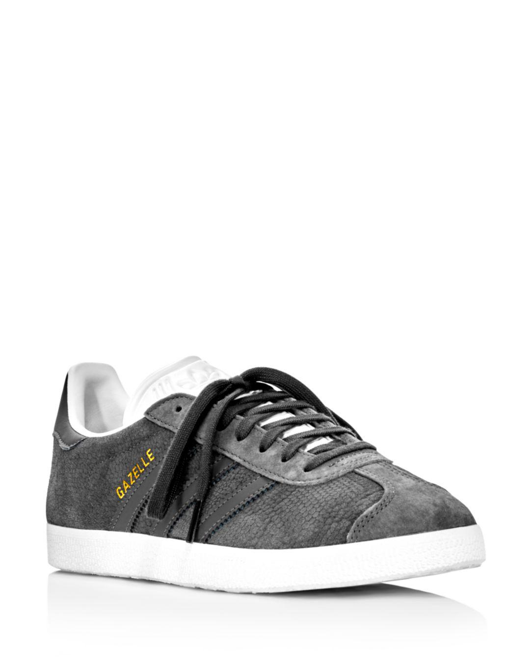 2a1573b843a3 Lyst - adidas Women s Gazelle Embossed Suede Lace Up Sneakers in ...