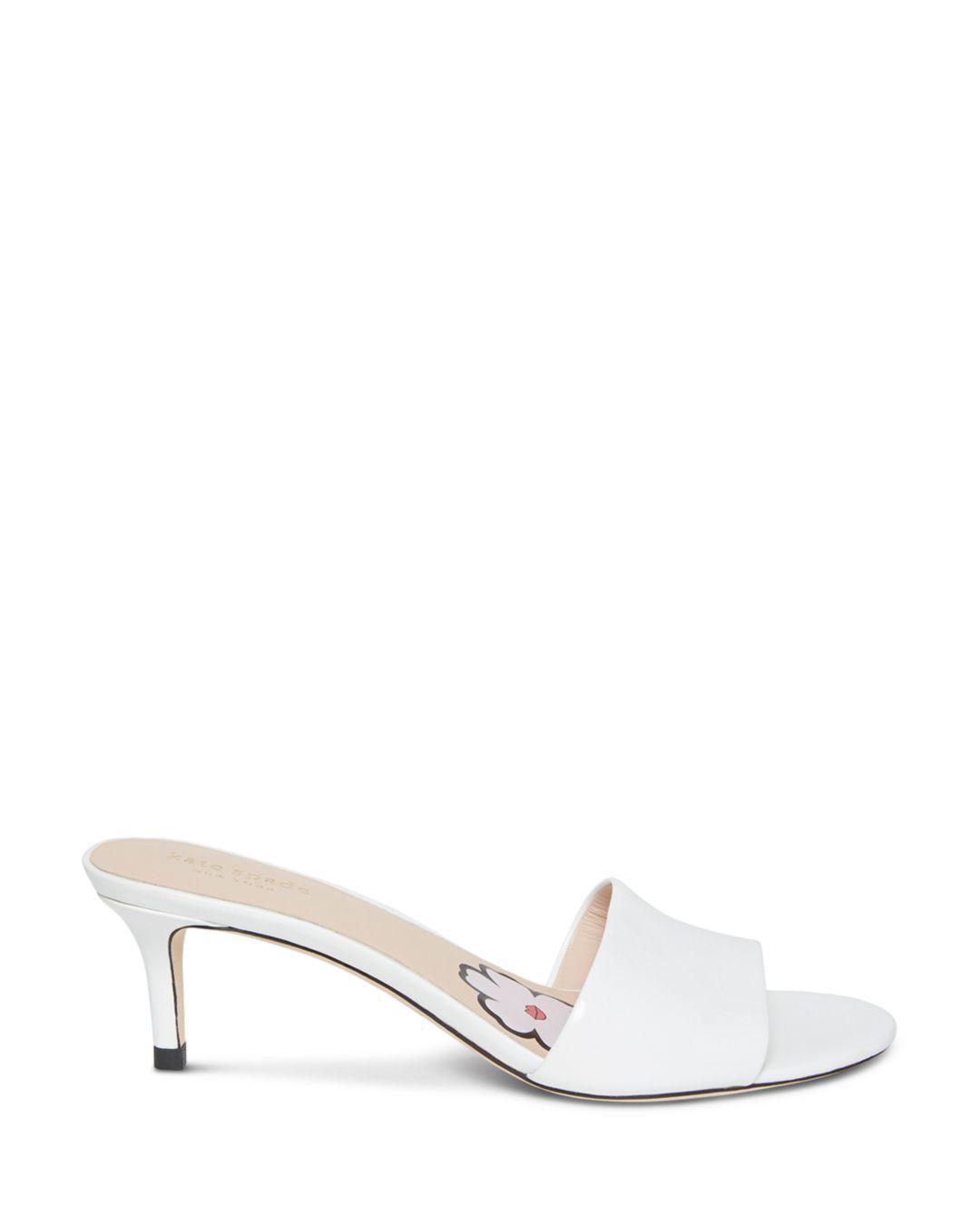 8e934a421 Tap to visit site. Kate Spade - White Women's Savvi Kitten Heel Slide  Sandals ...