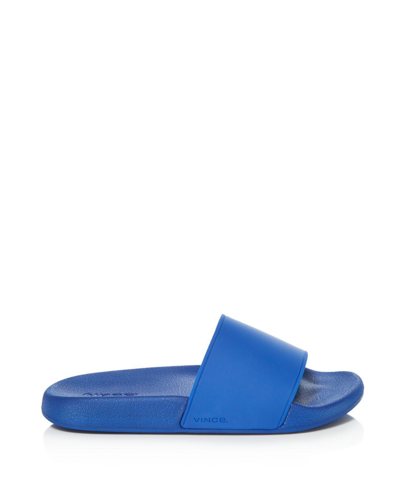 Vince West Coast Pool Slide Sandals In Blue Lyst