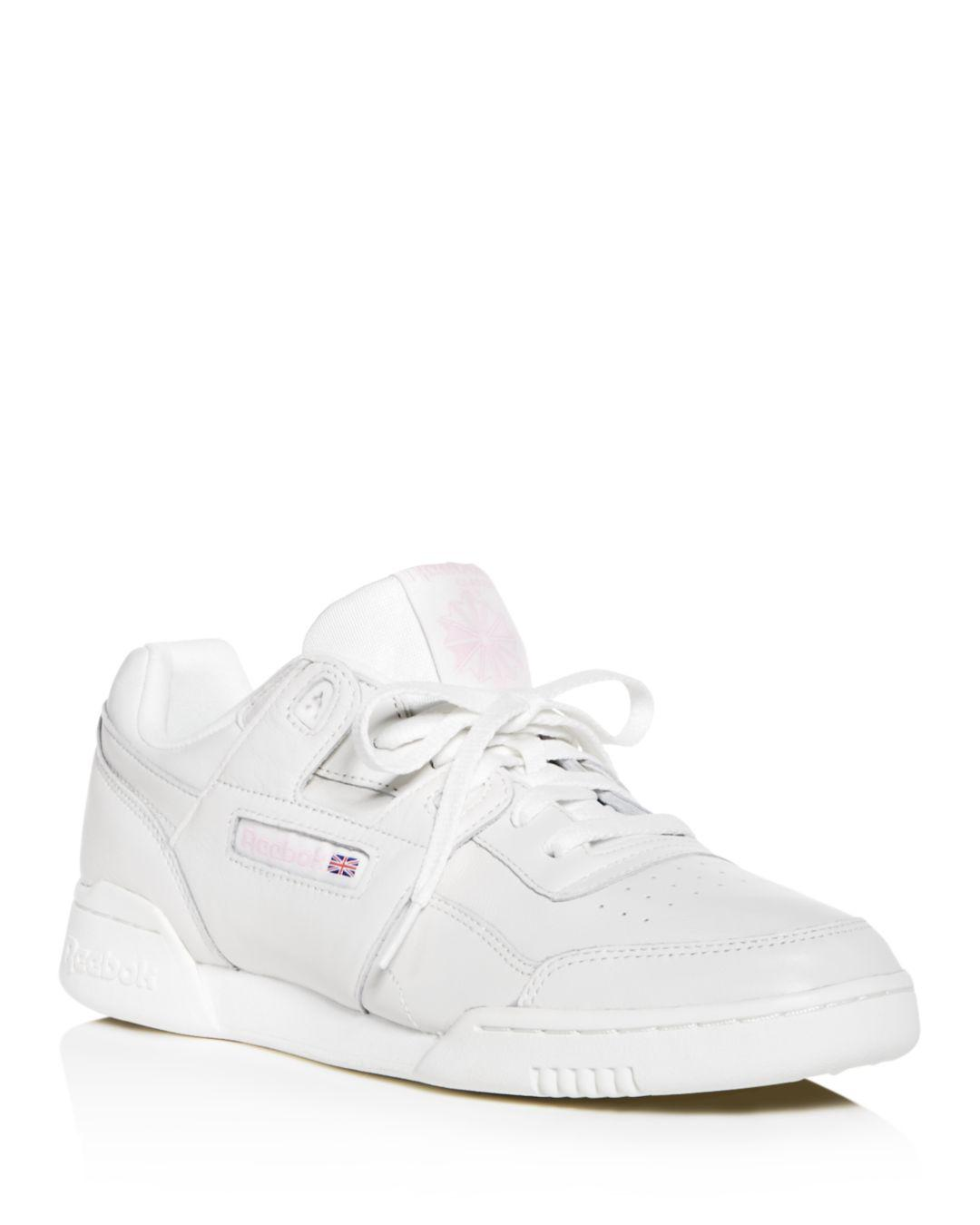 0e5927efe9a Reebok Women s Workout Plus Vintage Lace Up Sneakers in White - Lyst