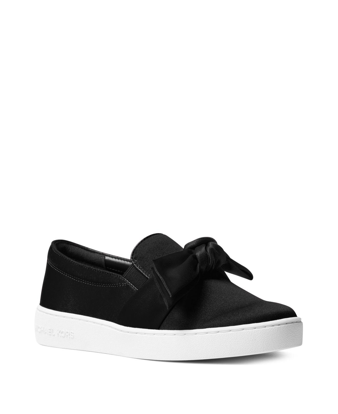Twuh73ObBD Womens Willa Satin Bow Slip-On Sneakers