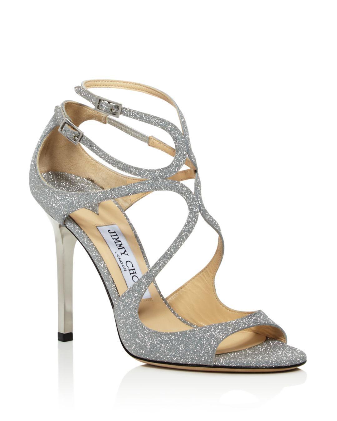 96db7a09dd7 Lyst - Jimmy Choo Women s Lang 100 High-heel Sandals in Metallic