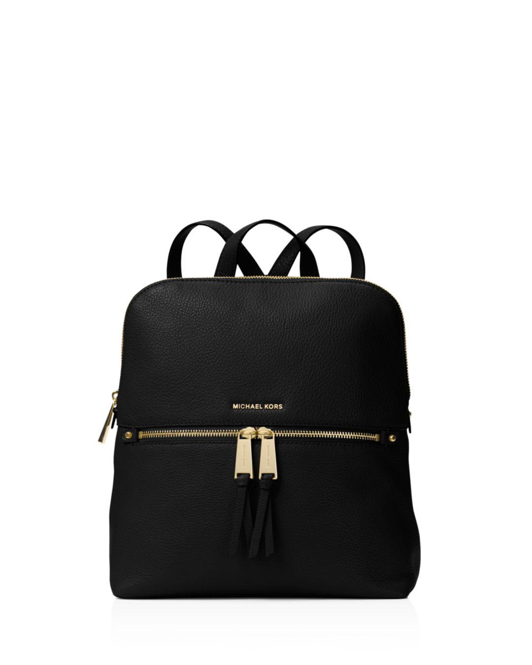 fae677ca837f6 Lyst - MICHAEL Michael Kors Rhea Medium Slim Backpack in Black