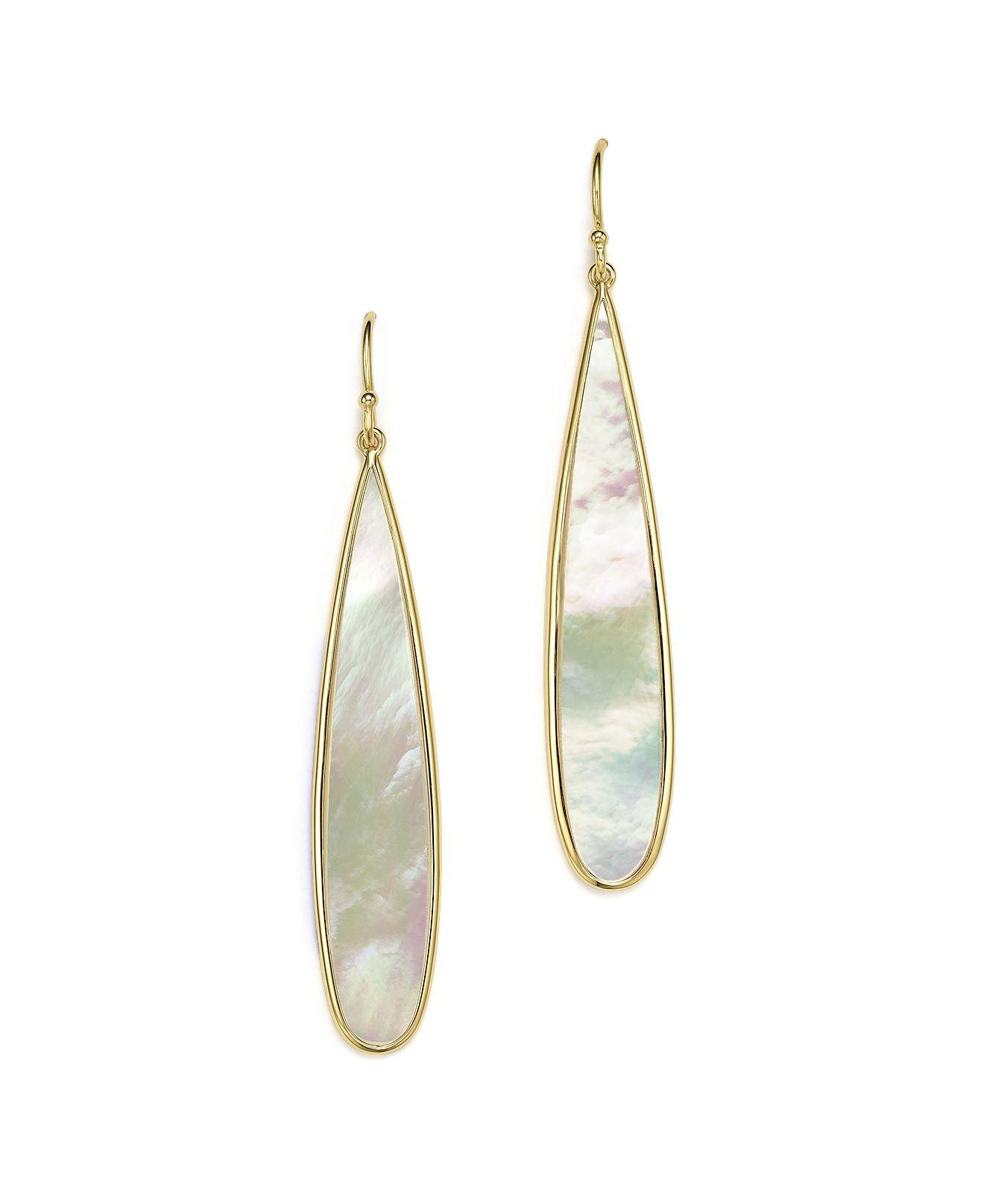 Ippolita 18K Rock Candy Mother-of-Pearl Long Drop Earrings cQwcGR91