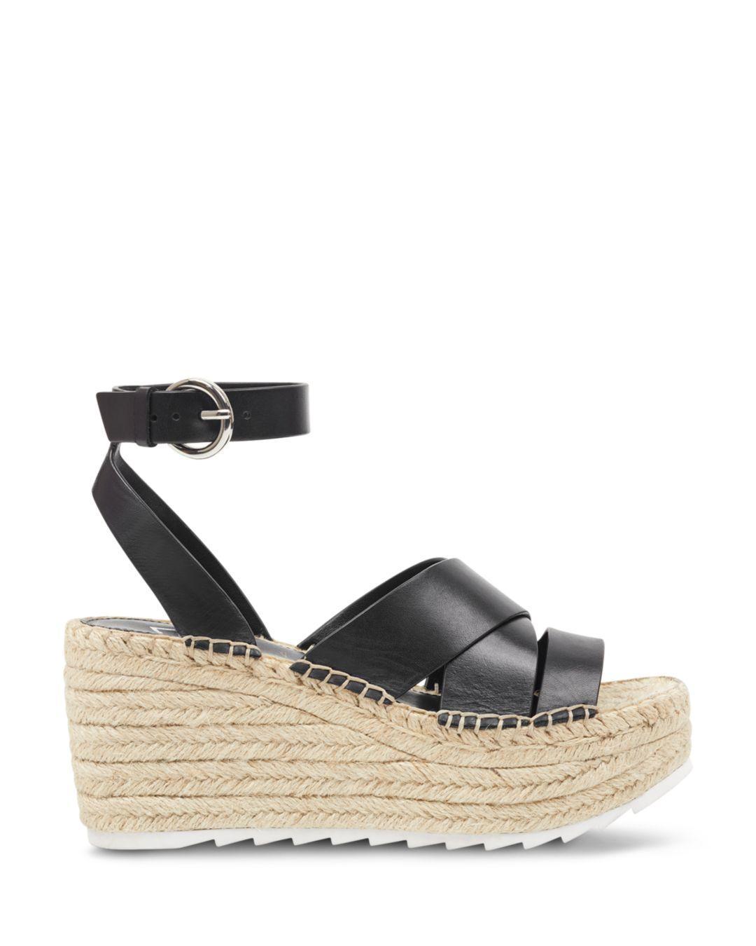 7bb6591c816f Lyst - Marc Fisher Women s Raffa Espadrille Platform Wedge Sandals in Black
