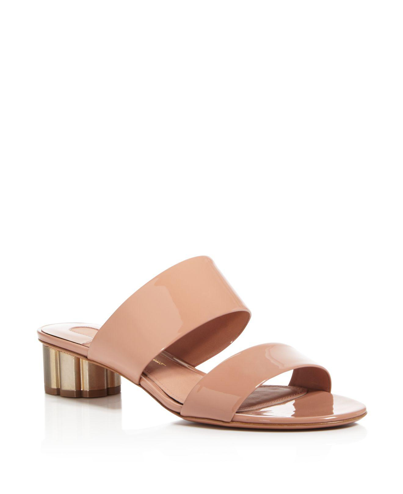 Salvatore Ferragamo Women's Floral Heel Slide Sandals