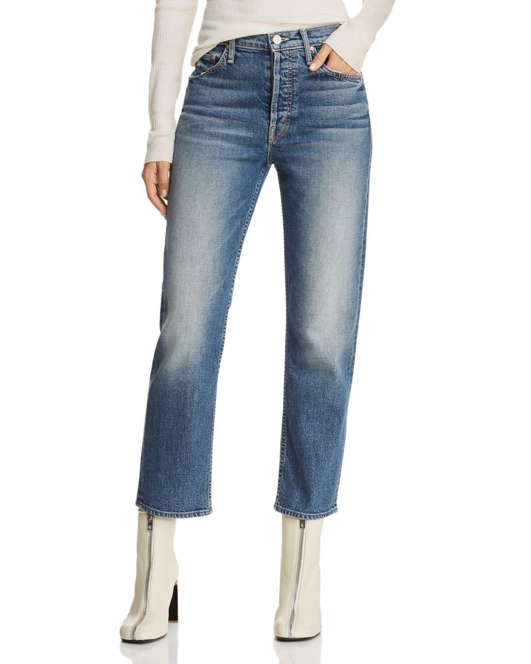 a6d3af3e4cd34 Lyst - Mother The Tomcat High-rise Straight-leg Jeans In We All ...