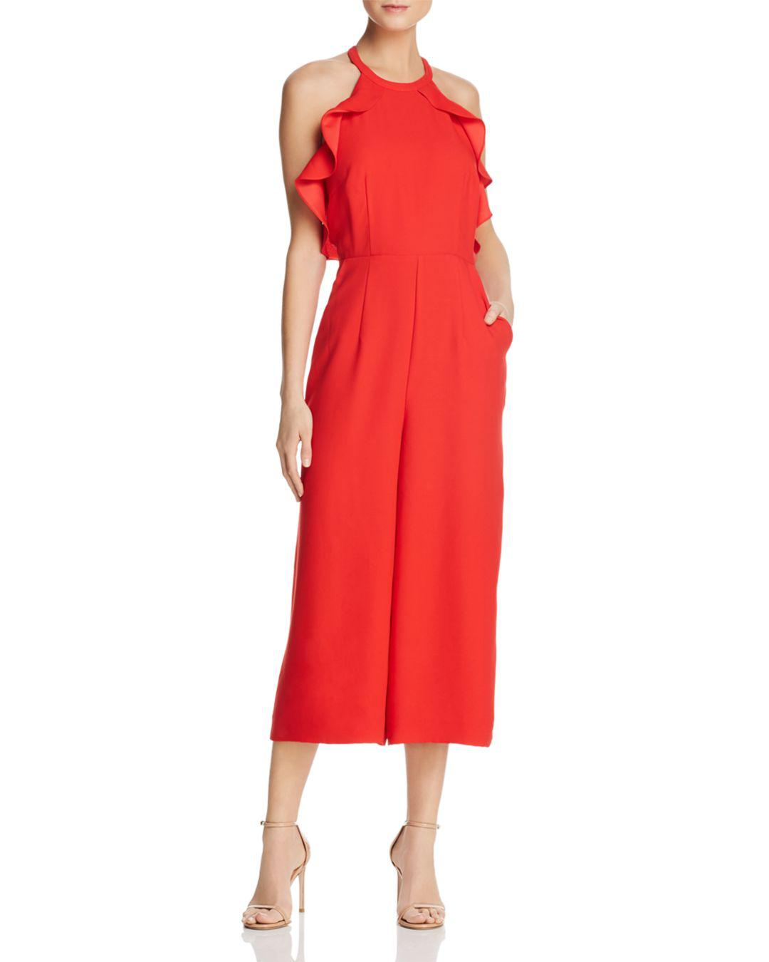 d5d680f95e0 Whistles Sonia Ruffled Jumpsuit in Red - Lyst