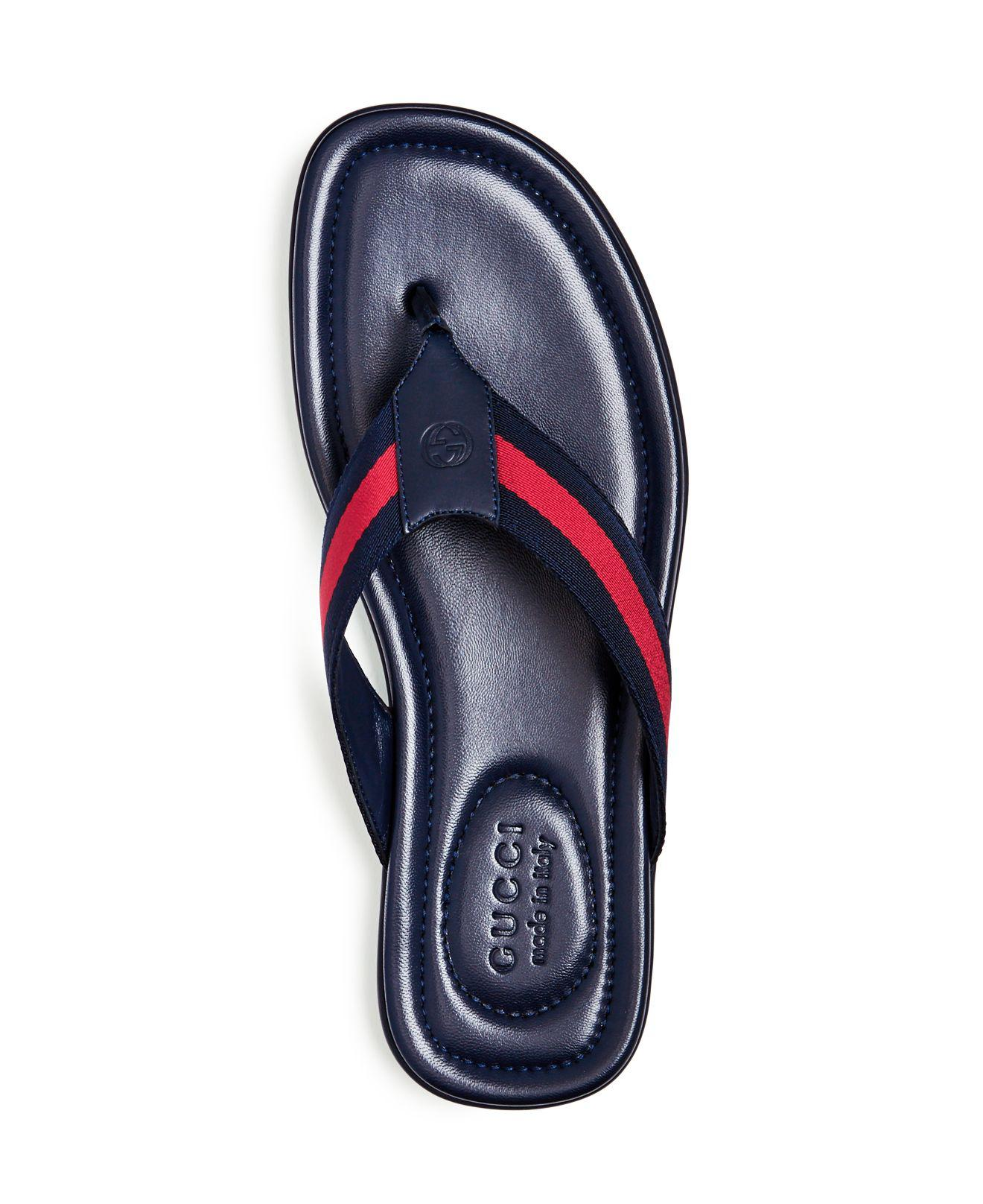 185a65e9f652 Lyst - Gucci Men s Titan Thong Sandals in Blue for Men