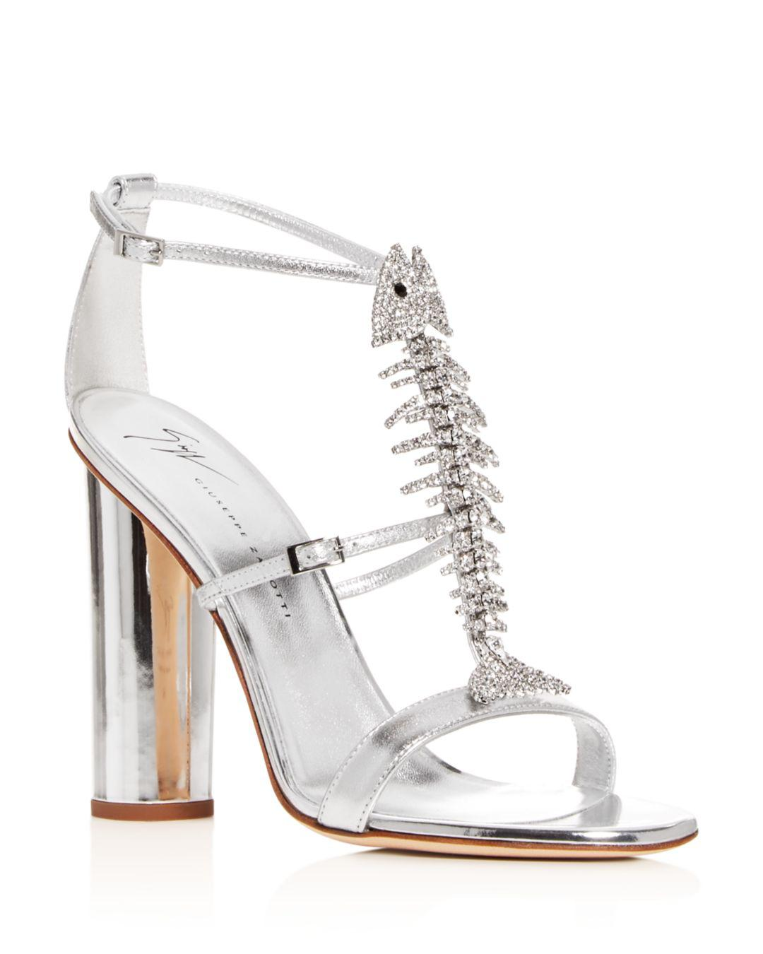 aec4046a5c6 Lyst - Giuseppe Zanotti Women s Svamp Embellished High-heel Sandals ...