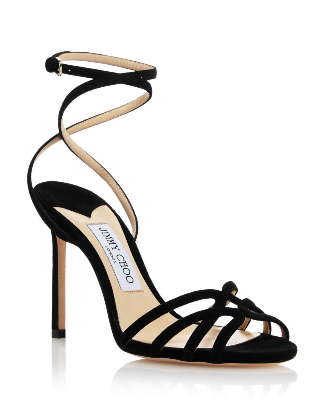 5e2ef01791e8 Jimmy Choo - Black Women s Mimi 100 High-heel Sandals - Lyst. View  fullscreen
